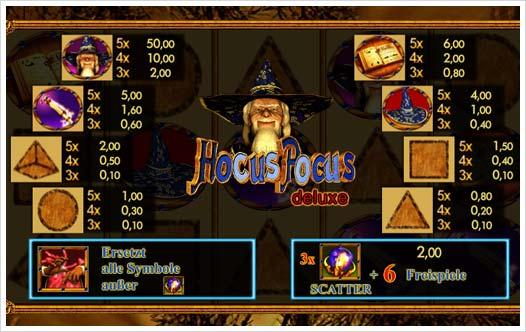 Spielen Sie Hocus Pocus Deluxe Kostenlos Im Demo Mode Von Merkur Slots